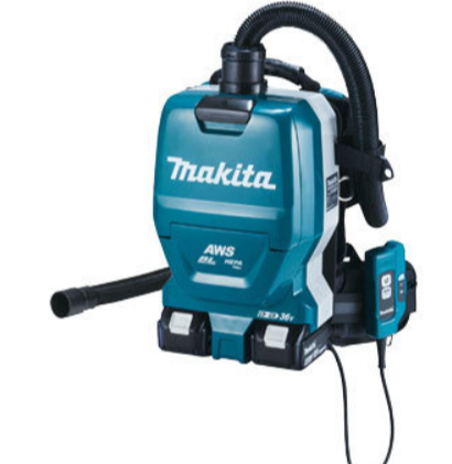 マキタ:コードレス集塵機、背負いタイプ
